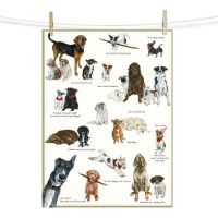 Scruffy Mutts Biscuit Club Dog Tea Towel - The Little Dog