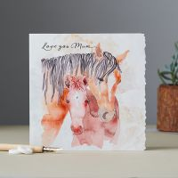 Greetings Card - Mum - Mare & Foal