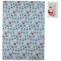 Christmas Characters Gift Wrapping Paper Sheet & Tag