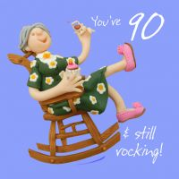 90th Female Birthday Card - Still Rocking One Lump Or Two