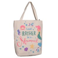 Mermaid Enchanted Seas Motive Cotton Bag - Lined with Zip
