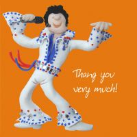 Thank you Card - Elvis One Lump Or Two