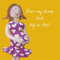 New Bump Congratulations Card - Baby Shower One Lump Or Two