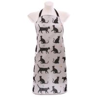 Cat Apron - I love my Cat - Poly Cotton
