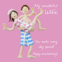Anniversary Card - Wife One Lump Or Two