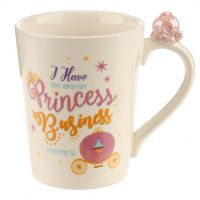 Princess Carriage Enchanted Kingdom Slogan Ceramic Mug