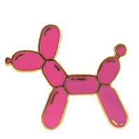 Balloon Dog Balloonies Pink Design Enamel Pin Badge