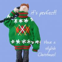 Christmas Card - Christmas Jumper - Funny Humour One Lump Or Two