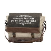 Grand Bazar Canvas & Leather Messenger Bag