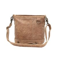 Brown Leather Shoulder Cross Body Handbag