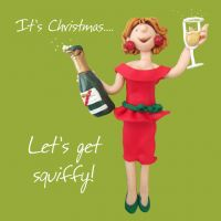 Christmas Card - Let's get Squiffy - Funny Humour One Lump Or Two