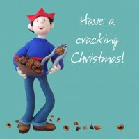 Christmas Card - Cracking Christmas Walnuts - Funny Humour One Lump Or Two
