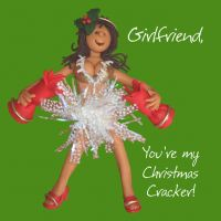 Christmas Card - Girlfriend Christmas Cracker - Funny Humour One Lump Or Two