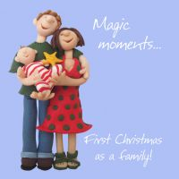 Christmas Card - First Family Christmas Magic Moments - Funny Humour One Lump Or Two