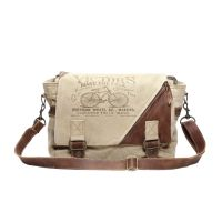 Victor's Bicycle Canvas & Leather Messenger Bag