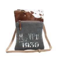 1930 Design Canvas & Cowhide Cross Body Bag