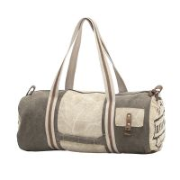 Handmade Stamped Canvas Duffel Weekend Holdall Bag