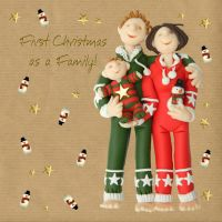 Christmas Card - First Christmas as a Family - Three French Hens