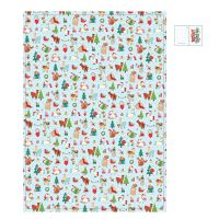 Christmas Animals Design Gift Wrapping Paper Sheet & Tag