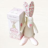 Rabbit Rattle in a Box - Baby Girl Gift - Rufus Rabbit