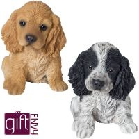 Cocker Spaniel Puppy Dog - Lifelike Ornament Gift - Indoor or Outdoor - Pet Pals