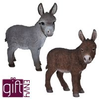 Donkey - Standing Lifelike Garden Ornament - Indoor or Outdoor - Real Life Farm 2 Colours