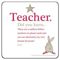 Teacher Gift - Did you know? Coaster - Ruffus Rabbit