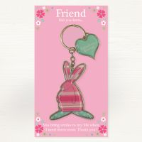 Fabulous Friend Metal Keyring - Did you Know... - Ruffus Rabbit