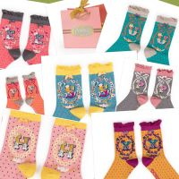 Powder UK Ladies Socks Initial Alphabet A-Z - Bamboo - 26 Letters