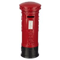 London Red Post Box - Diecast Metal Money Box