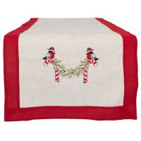 Christmas Embroidered Linen Table Runner - Clayre & Eef