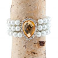Gold with Faux Pearl Stylish Bracelet