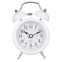 White Metal Alarm Clock - Clayre & Eef