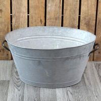 Zinc Metal Extra Large Oval Garden Planter with Handles