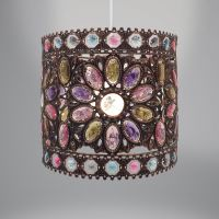 Lampshade - Antique Brown Moroccan - Tilly