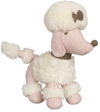 Poodle Dog Soft Toy - Pink & Cream