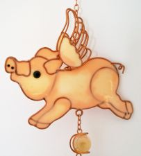 Flying Pig Garden Wind Chime