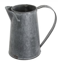 Chartwell Destressed Zinc Metal Jug - Garden Planter Table Centre