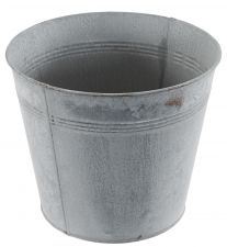 Chartwell Zinc Distressed Look Metal Tall Plant Pot