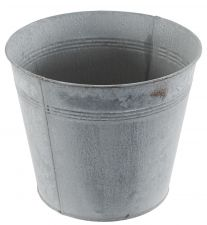 Chartwell Zinc Distressed Look Metal Tall Plant Pot - Set of 3
