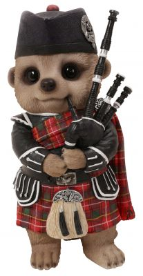 Scottish Bagpiper Baby Meerkat Ornament Gift - Indoor or Outdoor - Fun