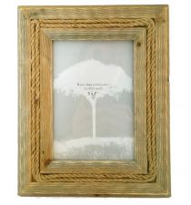 Large Rope Reclaimed Wood Picture Frame - 7