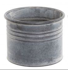 Zinc Straight Side Metal Planter or Pots - 5 Sizes