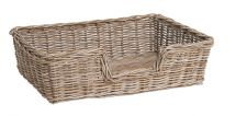 Large Chunky Rattan Dog Bed - Size Large