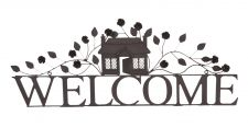 Large Brown Metal Welcome Sign