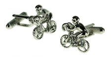 Cyclist Racing Bike Bicycle Cufflinks