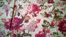 Shabby Chic Burgundy Bedroom Bedspread Quilt Throw Double