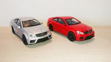 Mercedes-Benz C 63 AMG Coupe Black Series Diecast Scale Model Car Scale 1:38