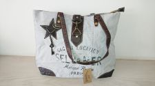 Sel De Mer Canvas & Leather Shopper Handbag - Carpe Diem