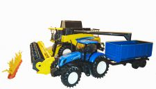 New Holland CR9090 Combine with Tractor & Trailor